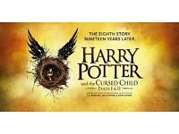 Harry Potter and the cursed child, 9 sep. 2017. 2x Stalls, best seats available.