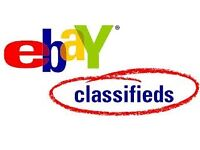 Experienced eBay seller 7000 feedbacks, I can list items, advertise, classifieds, cars sell, etc