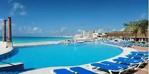 Weekly rental Cancun beachfront resort All-inclusive is optional