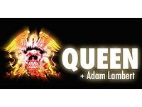 Queen and Adam Lambert Tickets x2 STANDING Wembley Arena Sunday 1st July £200 the pair