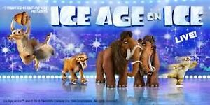 ICE AGE ON ICE august 26 in english Bell Center  less than bough