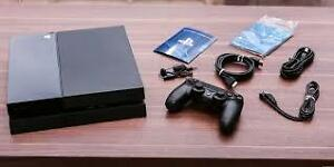 ps4 system 4 games 1 controler