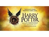 Harry Potter and the cursed child tickets (part 1+2) 15th Nov 2017 **Grand circle row B**