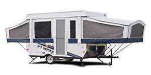 Camping tente-roulotte tout inclus a louer
