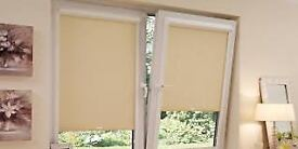 Two Louvolite Perfect-Fit black out Roller Blinds. Cost £300 for both
