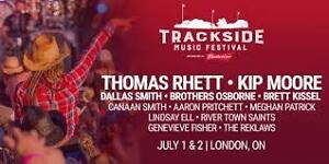 TRACKSIDE MUSIC FESTIVAL- July 1,2 - 2 day ticket