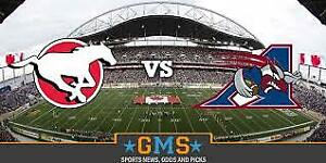 July 21st Saturday (2) Stampeders Tickets (WITH PARKING PASS)