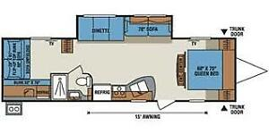 2014 KZ 320BHSS family travel trailer with bunks and more!