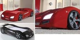 Racing Car Bed by Lynda Marconi with Knight Rider style Lights & Sound & Remote control