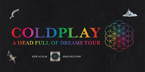 COLDPLAY , Mercredi le 9 Aout 2017, Section 116, Rangee B (ROUGE