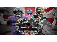**NFL UK Baltimore Ravens vs Jacksonville Jaguars - SUPER Lower Tier Seats (104) - 24/09/17**