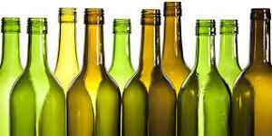 Empty Wine Bottles - Clean with No Label