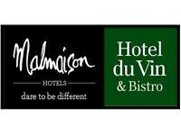 Sales Support Executive, Media & Sport National Accounts, Malmaison and Hotel Du Vin, Birmingham