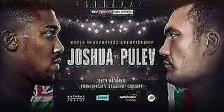 2 x Anthony Joshua vs Pulev Tickets