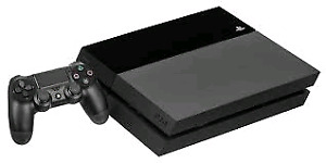PS4 with 2 controllers no games