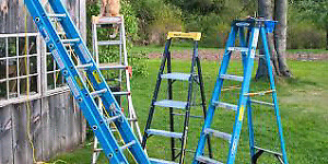 Featherlite Aluminum step ladders A frame 3 & 4 & 10  footers