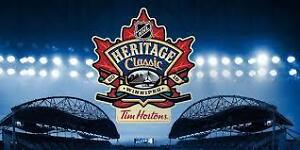 2 Tickets Heritage Classic Jets and Oilers - Sunday Game