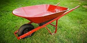 Looking for a used wheelbarrow / Je cherche une brouette usagée