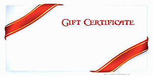 GIFT CERTIFICATE FOR NAIL SALON