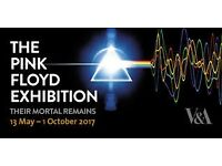 "Pink Floyd ""Their Mortal Remains"" V&A exhibition tickets for this Saturday 27th May"