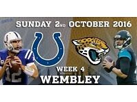 Pair of NFL UK ticket JAGUARS vs COLTS 02/10/16