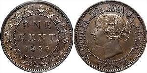 Monnaie Canada 1 cent Reine Victoria 1859 à 1900