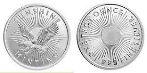 1oz Pure Silver  .999 Sunshine Morgan Rounds