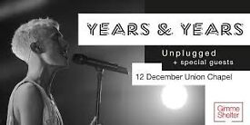 Years & Years unplugged - Union Chapel 12th December 2016 - 12/12/16 - LIMITED AVAILABILITY SHOW