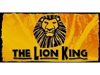 3 x Lion King Tickets for Tuesday 24th January at 7.30pm (£60 per ticket ONO)