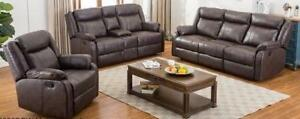 3pc Reclining Sofa Set Model 9392 in a Brown Gel Leather Starting bid: $1,678.00 Regular Retail $3449