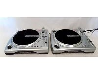 2 X NUMARK TT 1600 Turntables Set Of 2 Vinyl Record Player Decks DJ Equipment V.G.C.