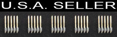 5 Pcs Samtec 10 Pin Header Smd Smt 2.54mm .1 Spacing Male Connector Pcb 2x5