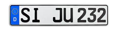 1x KFZ Kennzeichen | Nummernschilder | Autokennzeichen | Autoschilder 520x110mm