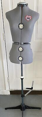 Singer Vintage Model 150 12 Dial Seamstress Adjustable Dress Form Mannequin Gray