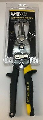 Klein Tools 1202s Aviation Snips With Wire Cutter Straight