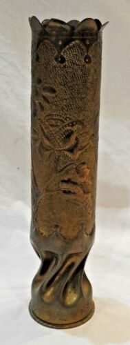 "WWI Trench Art Vase 14.5"" High"