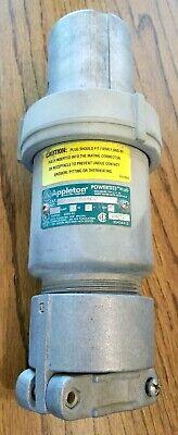 Appleton Electric Acp1044cd 100 Amp 4w 4p Powerlite Clamping Plug