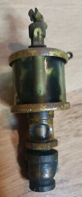 Vintage Brass Steam Hit Miss Drip Oiler Lubricator Marked X12a1