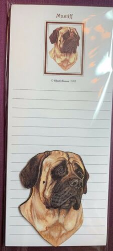 Mastiff Notepad and Wood Magnet