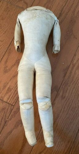 Antique Kid Leather Doll Body - 19 in.