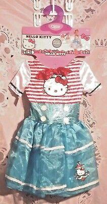 Hello Kitty  Deluxe Sailor Halloween Costume Girl Youth Sz Small 4-6x Dress Up](Hello Kitty Girl Costume)