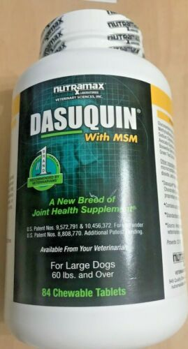 NUTRAMAX DASUQUIN With MSM for Large Dogs 60lbs 84 Chewable Tabs
