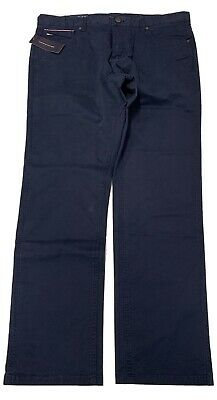 Tommy Hilfiger: Flex Navy BLUE Chino Pant 36x34  - Mens Pants NEW NWT