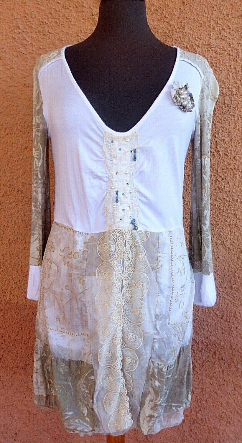 Ladies Elisa Cavaletti Club White Stretch Tunic/Dress Size S (pics size)