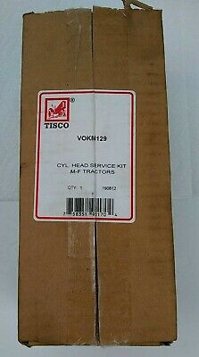 Tisco Vokm129 Cylinder Head Kit Ferguson F40 Mf135 Mf35 Mf50 4 Cyl Gas Engine