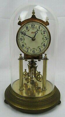 "W GERMANY Kundo KEININGER OBERGFELL 400 Day Anniversary mantel Windup Clock 9.5"" for sale  Shipping to Ireland"