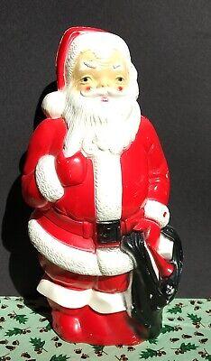 VINTAGE CHRISTMAS SANTA CLAUS BLOW MOLD LIGHT UP EMPIRE PLASTIC CORP 1968 USA