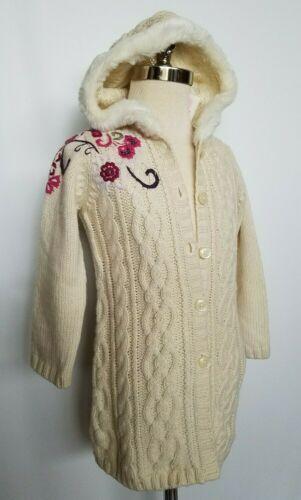 Janie & Jack Cardigan Sweater Duster Long Sleeve Winter Jewels Size 2T NWT