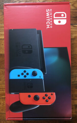 Nintendo Switch with Neon Blue and Neon Red Joy‑Con - HAC-001(-01) Brand New
