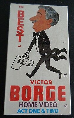 THE BEST OF VICTOR BORGE Act One & Two VHS Tape NEW Live Performance FREE